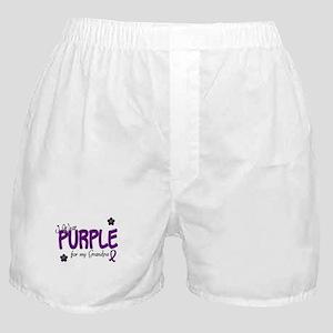 I Wear Purple For My Grandpa 14 Boxer Shorts