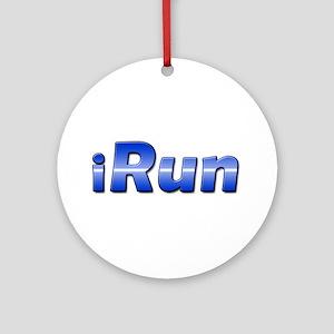 iRun, racing stripe Ornament (Round)