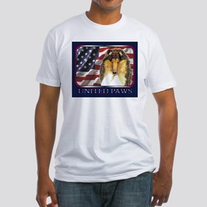 Collie Dog Patriotic USA Flag Fitted T-Shirt