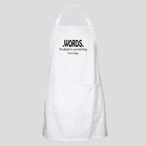 Words BBQ Apron