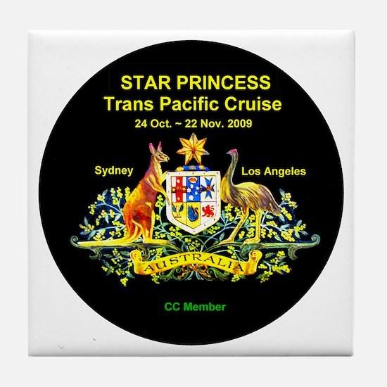 Star SYD-LA 2009 Tile Coaster