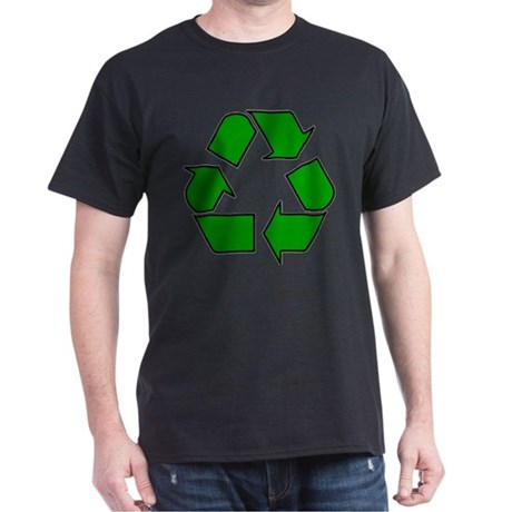 Recycle Logo White Dark T Shirt Recycle Logo T Shirt
