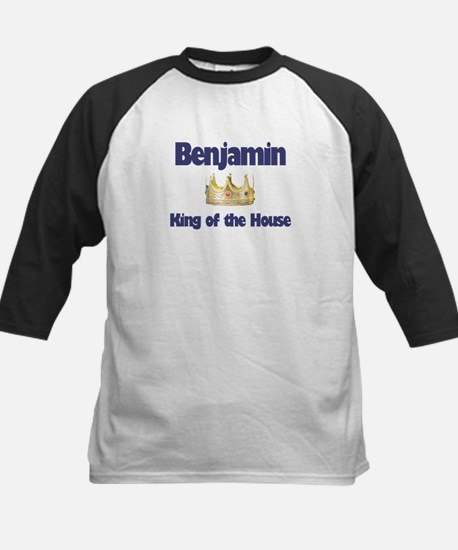 Benjamin - King of the House Kids Baseball Jersey