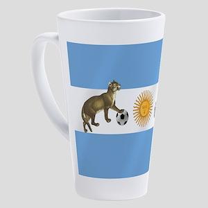 Argentina Football Flag 17 oz Latte Mug