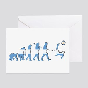 Argentinian Soccer Evolution Greeting Cards