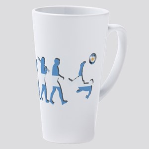 Argentinian Soccer Evolution 17 Oz Latte Mug