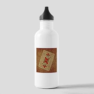 Brown Joker Card Stainless Water Bottle 1.0L