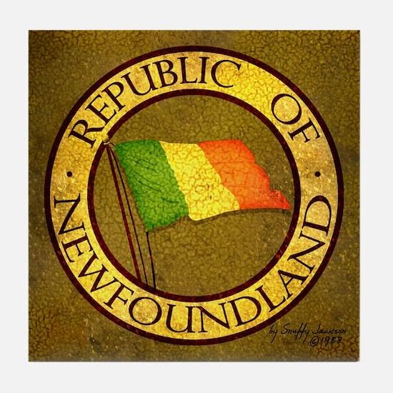 1983 Republic of Newfoundland Tile Coaster
