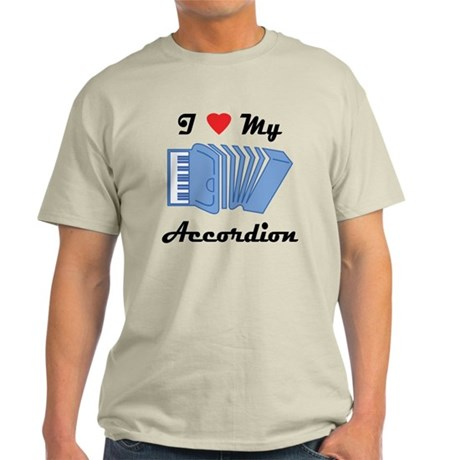 I Love My Accordion Light T-Shirt
