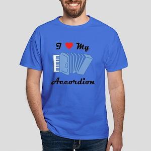 I Love My Accordion Dark T-Shirt