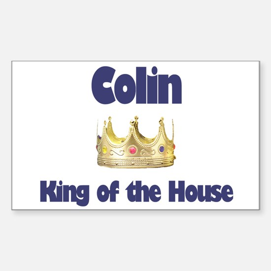Colin - King of the House Rectangle Decal