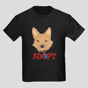 Adopt a dog 4 Kids Dark T-Shirt