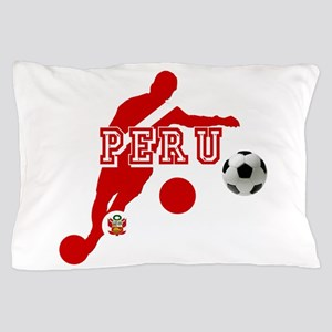 Peru Football Player Pillow Case