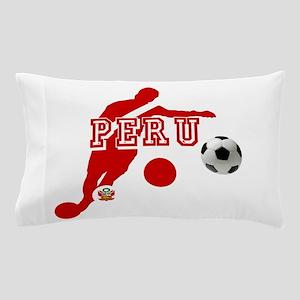 Peru Football Player Pillow Case