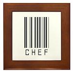 Chef Barcode Framed Tile