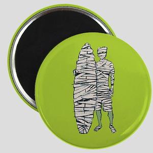 Surfing Halloween Mummy Magnet