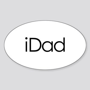 iDad Oval Sticker