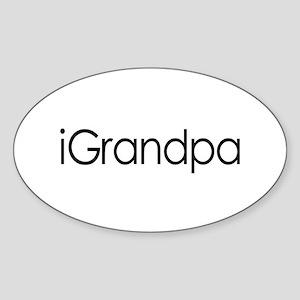 iGrandpa Oval Sticker