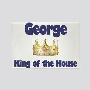 George - King of the House Rectangle Magnet