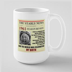 born in 1961 birthday gift Large Mug