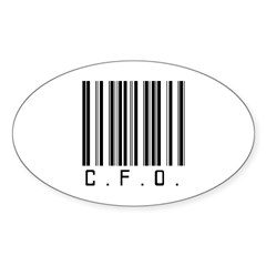 C.F.O. Barcode Oval Decal