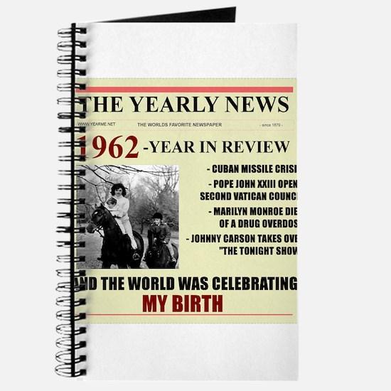 born in 1962 birthday gift Journal