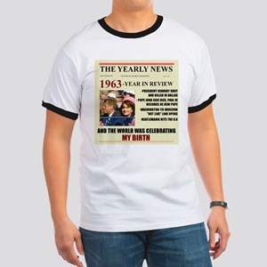 born in 1963 birthday gift Ringer T