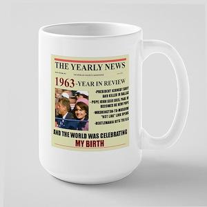 born in 1963 birthday gift Large Mug