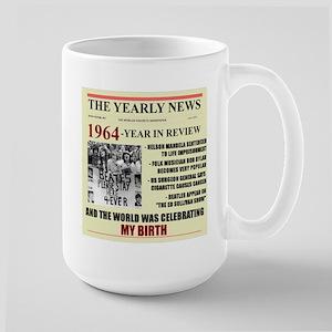 born in 1964 birthday gift Large Mug