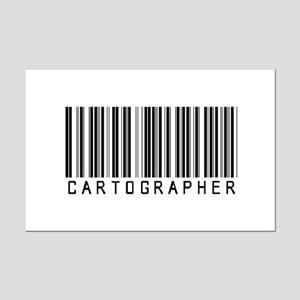 Cartographer Barcode Mini Poster Print