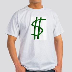 Money Dollar Sign Ash Grey T-Shirt