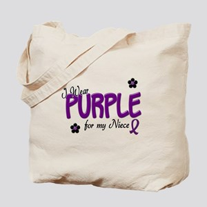 I Wear Purple For My Niece 14 Tote Bag