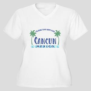 Cancun Happy Place - Women's Plus Size V-Neck T-Sh