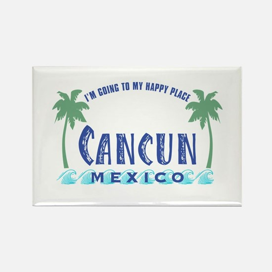 Cancun Happy Place - Rectangle Magnet
