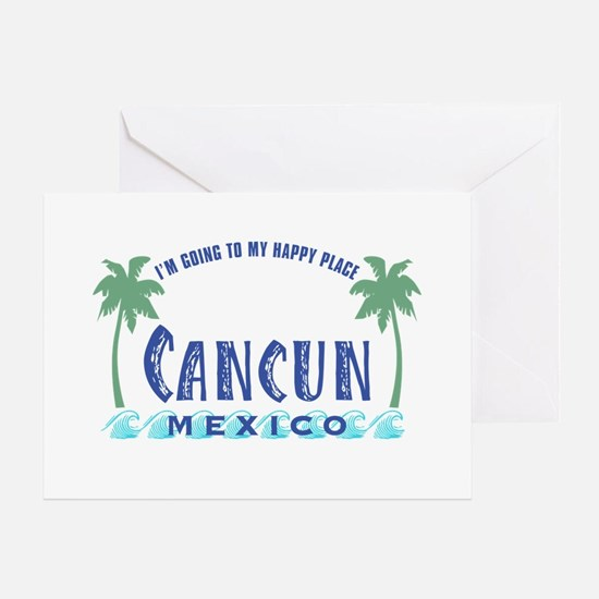 Cancun Happy Place - Greeting Card