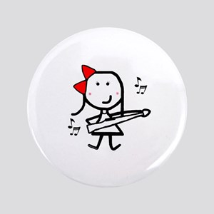 "Girl & Marching Rifle 3.5"" Button"