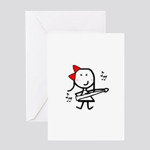 Girl & Marching Rifle Greeting Card