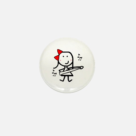 Girl & Marching Rifle Mini Button