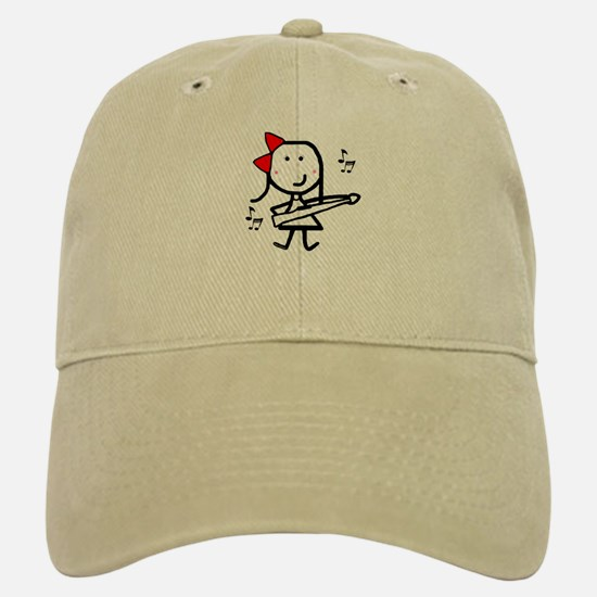 Girl & Marching Rifle Baseball Baseball Cap