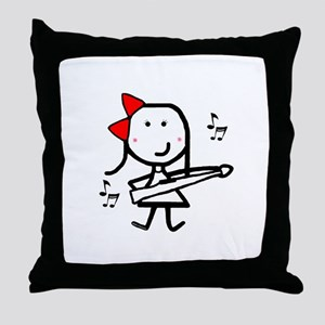 Girl & Marching Rifle Throw Pillow