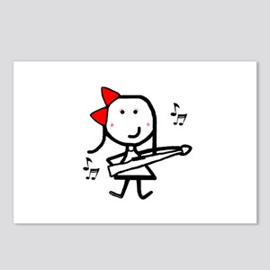 Girl & Marching Rifle Postcards (Package of 8)