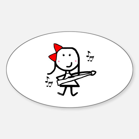 Girl & Marching Rifle Oval Decal
