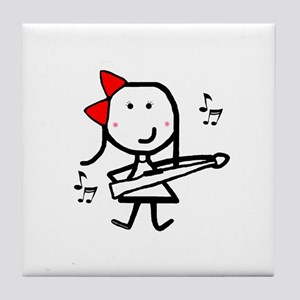 Girl & Marching Rifle Tile Coaster