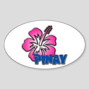 Pinay Oval Sticker