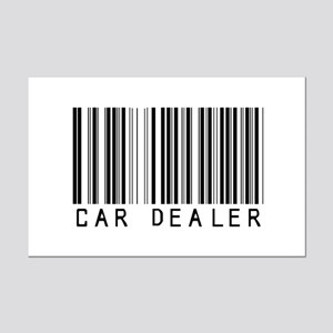 Car Dealer Barcode Mini Poster Print