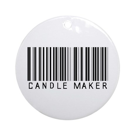 Candle Maker Barcode Ornament (Round)