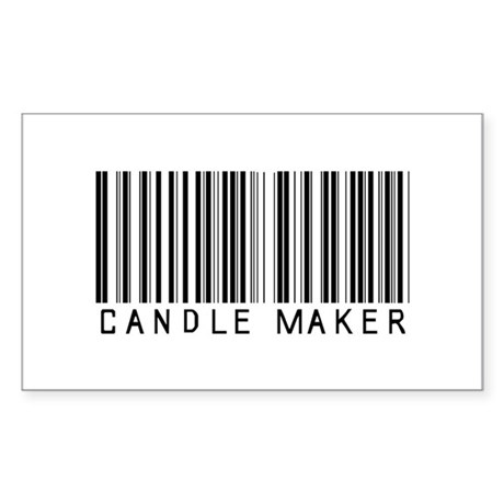 Candle Maker Barcode Rectangle Sticker