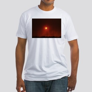 Fire Sun Set Fitted T-Shirt