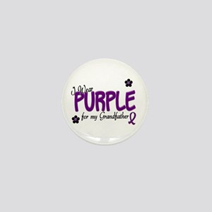 I Wear Purple For My Grandfather 14 Mini Button