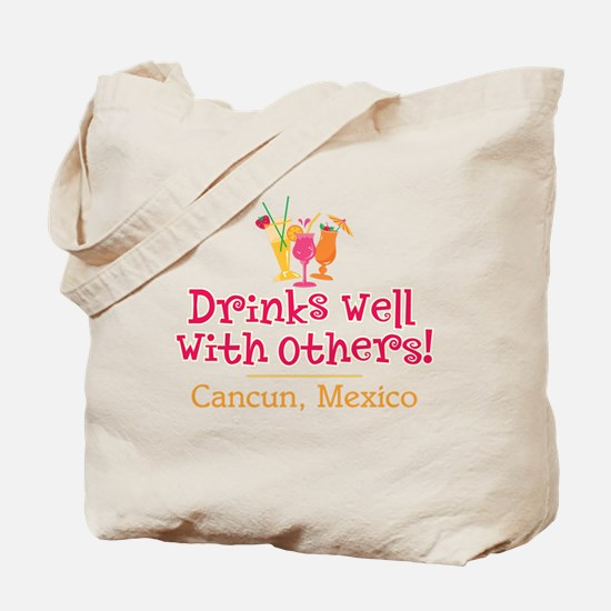 Drinks Well_Cancun - Tote or Beach Bag